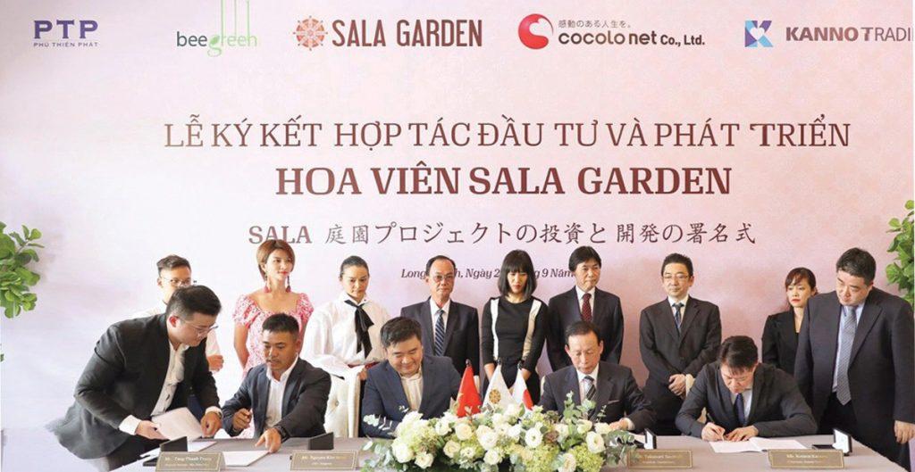 Lế Ký kết hợp tác Quản Lý Hoa viên Sala Garden với Cocolonet