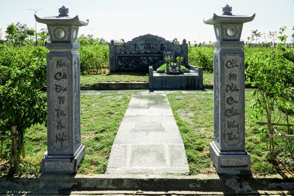 Mẫu xây dựng khu mộ gia tộc 48m2
