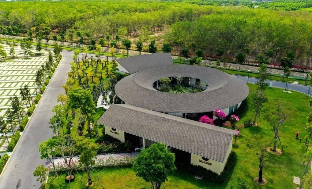 Nhà điều hành sala garden nhìn từ trên cao
