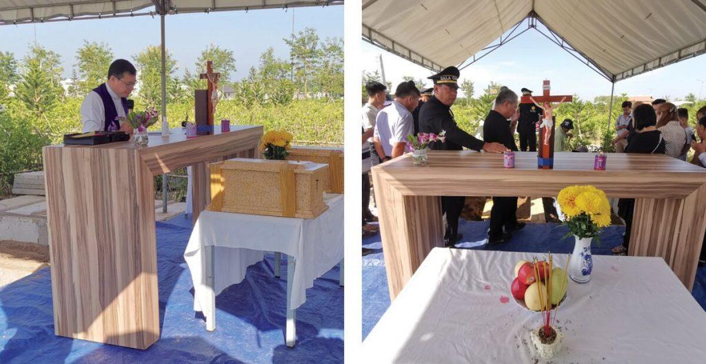 tang lễ công giáo tổ chức tại sala garden
